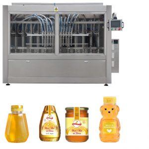자동적 인 자동 귀환 제어 장치 피스톤 유형 소스 꿀 잼 높은 점성 액체 채우는 모자를 씌우는 레테르를 붙이는 기계 선