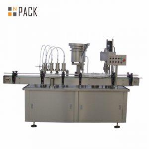 자동적 인 10ml 15ml 30ml e 액체 점안액 점 적기 병 채우는 모자를 씌우는 기계